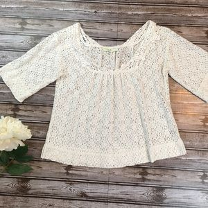 Urban Outfitters Staring at Stars Lace Crop Top